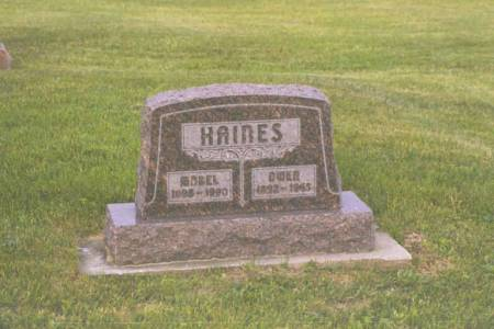 HAINES, OWEN & MABEL - Polk County, Iowa | OWEN & MABEL HAINES