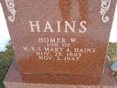 HAINS, HOMER W. - Polk County, Iowa | HOMER W. HAINS
