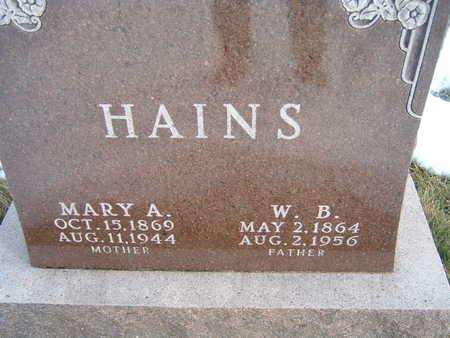 HAINS, W. B. - Polk County, Iowa | W. B. HAINS