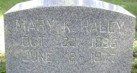HALEY, MARY K - Polk County, Iowa | MARY K HALEY