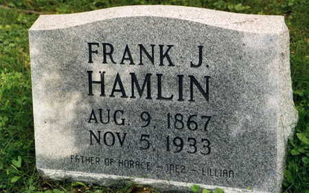 HAMLIN, FRANK J. - Polk County, Iowa   FRANK J. HAMLIN
