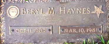 HAYNES, BERYL - Polk County, Iowa | BERYL HAYNES