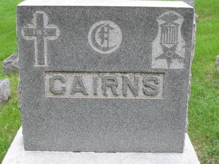 HEADSTONE, CAIRNS - Polk County, Iowa | CAIRNS HEADSTONE