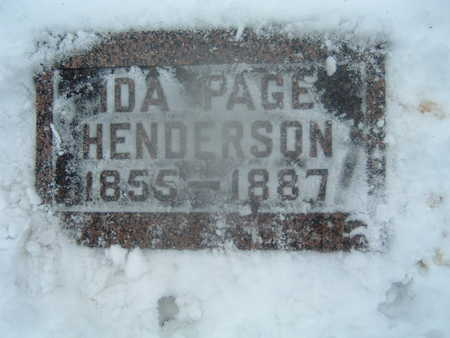 PAGE HENDERSON, IDA - Polk County, Iowa   IDA PAGE HENDERSON