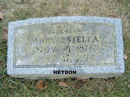 HEYDON, MARY ESTELLA - Polk County, Iowa | MARY ESTELLA HEYDON