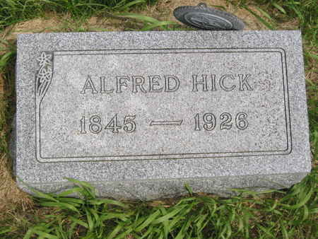 HICK, ALFRED - Polk County, Iowa | ALFRED HICK