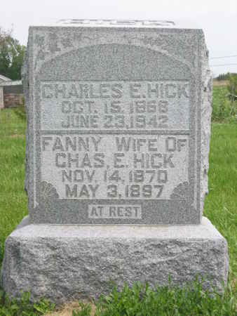 HICK, CHARLES E. - Polk County, Iowa   CHARLES E. HICK