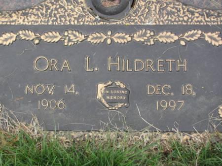 HILDRETH, ORA  L. - Polk County, Iowa | ORA  L. HILDRETH