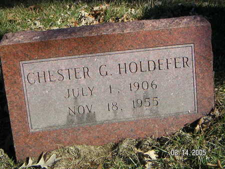 HOLDEFER, CHESTER GEORGE - Polk County, Iowa | CHESTER GEORGE HOLDEFER