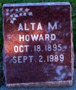HOWARD, ALTA MAY - Polk County, Iowa   ALTA MAY HOWARD