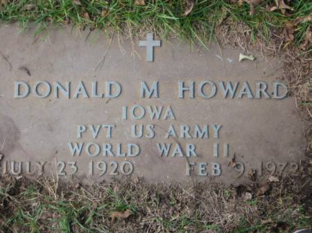 HOWARD, DONALD M. - Polk County, Iowa | DONALD M. HOWARD