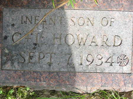 HOWARD, INFANT SON - Polk County, Iowa | INFANT SON HOWARD