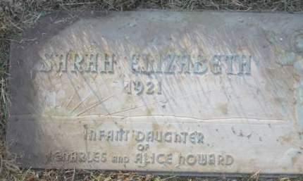 HOWARD, SARAH ELIZABETH - Polk County, Iowa | SARAH ELIZABETH HOWARD