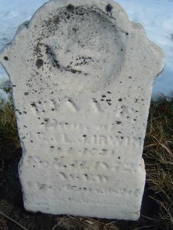 IRWIN, M? DAU OF J.C. & L.J. - Polk County, Iowa | M? DAU OF J.C. & L.J. IRWIN