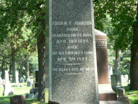 JOHNSON, ABRAM T. - Polk County, Iowa | ABRAM T. JOHNSON