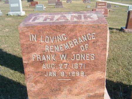 JONES, FRANK W. - Polk County, Iowa   FRANK W. JONES