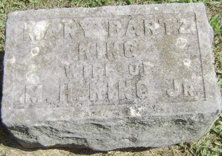 BARTZ KING, MARY - Polk County, Iowa | MARY BARTZ KING