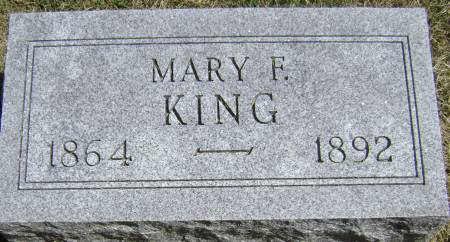KING, MARY F - Polk County, Iowa | MARY F KING