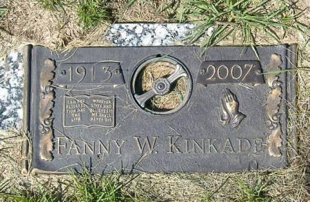 KINKADE, FANNY W. - Polk County, Iowa   FANNY W. KINKADE