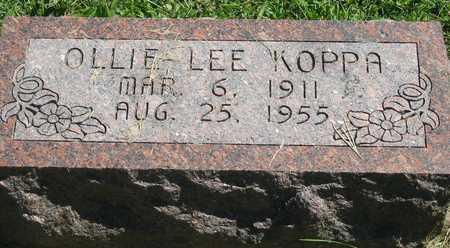 KOPPA, OLLIE LEE - Polk County, Iowa | OLLIE LEE KOPPA