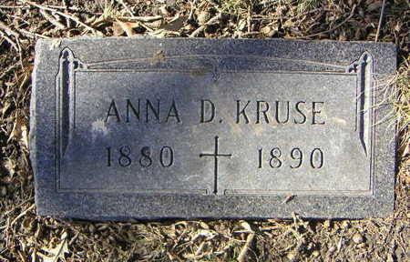 KRUSE, ANNA DORETHA - Polk County, Iowa   ANNA DORETHA KRUSE