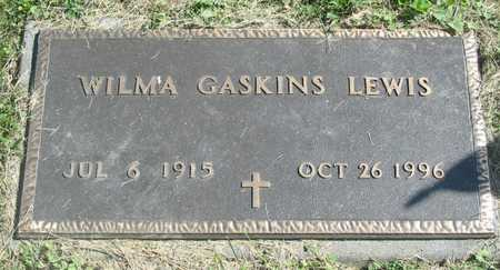 LEWIS, WILMA GASKINS - Polk County, Iowa | WILMA GASKINS LEWIS