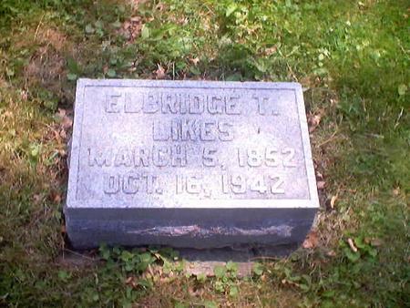 LIKES, ELBRIDGE T. - Polk County, Iowa | ELBRIDGE T. LIKES