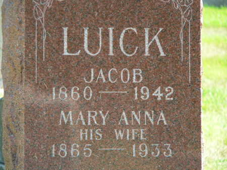 LUICK, MARY ANNA - Polk County, Iowa | MARY ANNA LUICK