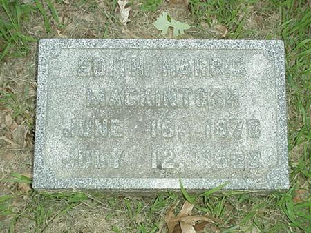 HARRIS MACKINTOSH, EDITH - Polk County, Iowa | EDITH HARRIS MACKINTOSH