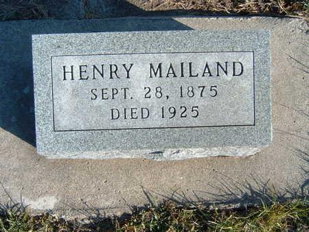 MAILAND, HENRY - Polk County, Iowa   HENRY MAILAND