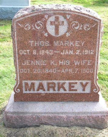 MARKEY, JENNIE K. - Polk County, Iowa   JENNIE K. MARKEY