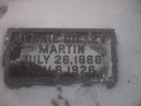 DICKEY MARTIN, JENNIE - Polk County, Iowa | JENNIE DICKEY MARTIN