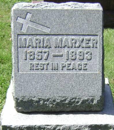 MARXER, MARIA - Polk County, Iowa   MARIA MARXER