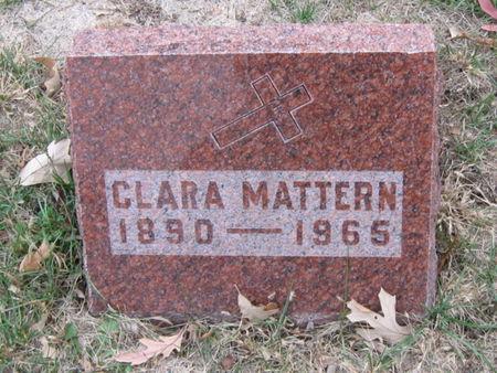 MATTERN, CLARA - Polk County, Iowa   CLARA MATTERN