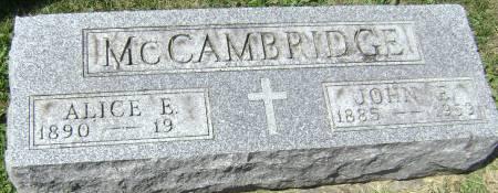 MCCAMBRIDGE, ALICE E - Polk County, Iowa | ALICE E MCCAMBRIDGE