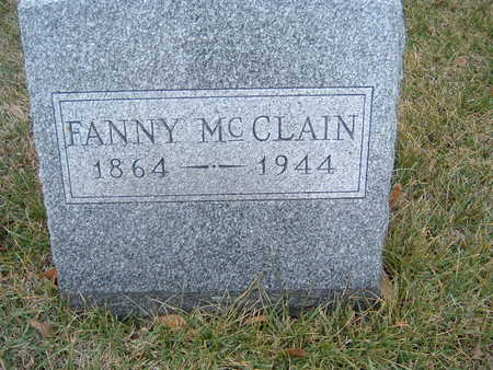 MCCLAIN, FANNY - Polk County, Iowa   FANNY MCCLAIN
