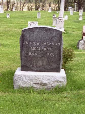 MCCLEARY, ANDREW JACKSON - Polk County, Iowa   ANDREW JACKSON MCCLEARY