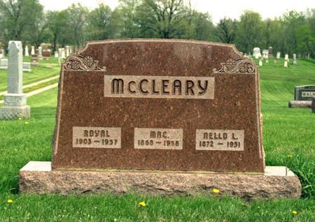 WALKER MCCLEARY, NELLO LEZETTA - Polk County, Iowa | NELLO LEZETTA WALKER MCCLEARY