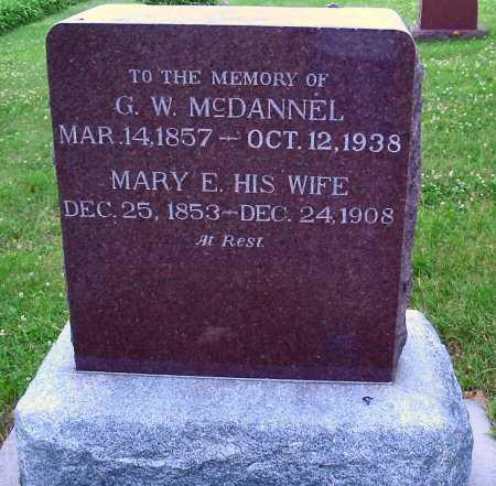 MCDANNEL, MARY E. - Polk County, Iowa   MARY E. MCDANNEL