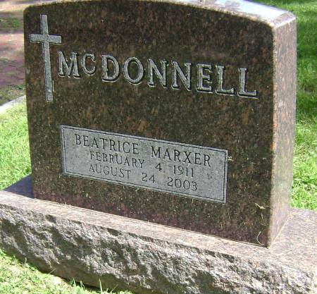 MARXER MCDONNELL, BEATRICE - Polk County, Iowa | BEATRICE MARXER MCDONNELL