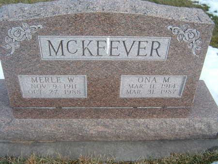 MCKEEVER, MERLE W. - Polk County, Iowa | MERLE W. MCKEEVER