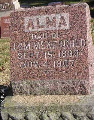 MCKERCHER, ALMA - Polk County, Iowa | ALMA MCKERCHER