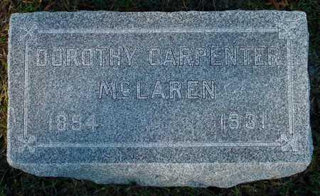 CARPENTER MCLAREN, DOROTHY - Polk County, Iowa   DOROTHY CARPENTER MCLAREN