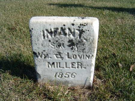 MILLER, INFANT SON OF WM. & LOVINA - Polk County, Iowa | INFANT SON OF WM. & LOVINA MILLER
