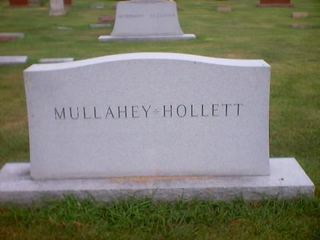 MULLAHEY-HOLLETT, MAIN STONE - Polk County, Iowa | MAIN STONE MULLAHEY-HOLLETT