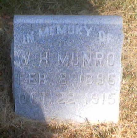 MUNRO, W. H. - Polk County, Iowa | W. H. MUNRO