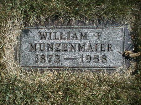 MUNZENMAIER, WILLIAM - Polk County, Iowa   WILLIAM MUNZENMAIER