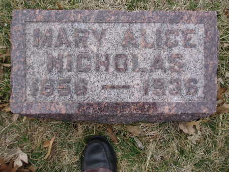 PIERSON NICHOLAS, MARY ALICE - Polk County, Iowa | MARY ALICE PIERSON NICHOLAS