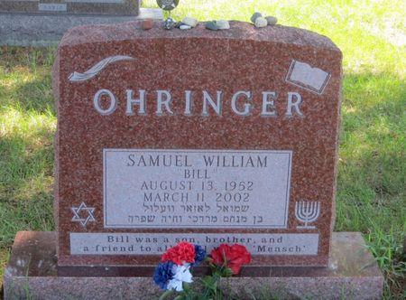 OHRINGER, SAMUEL WILLIAM - Polk County, Iowa   SAMUEL WILLIAM OHRINGER