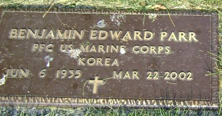 PARR, BENJAMIN EDWARD - Polk County, Iowa   BENJAMIN EDWARD PARR